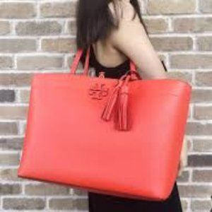 Tory Burch McGraw Tote Poppy Red